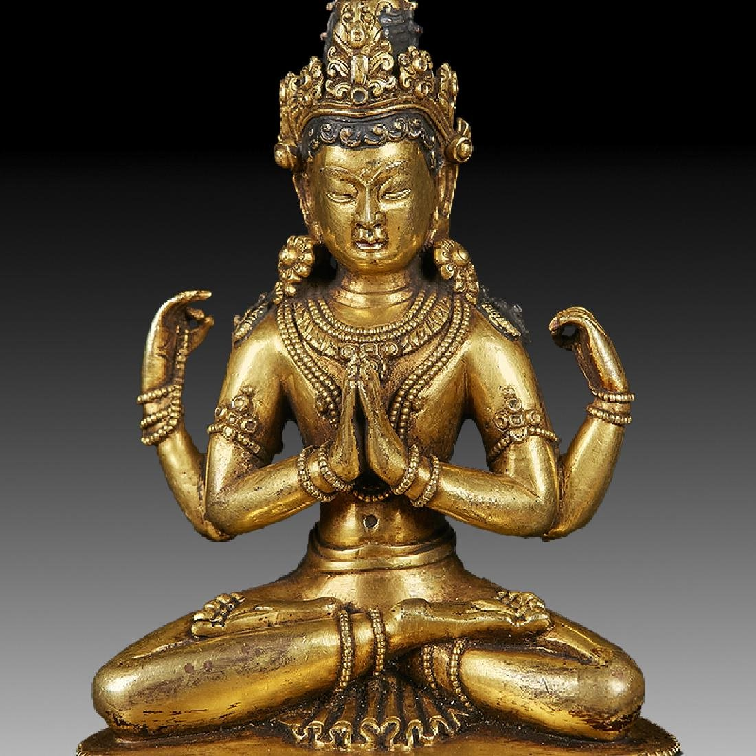 Chinese  Ming Dynasty Bronze Buddha Figure - 6