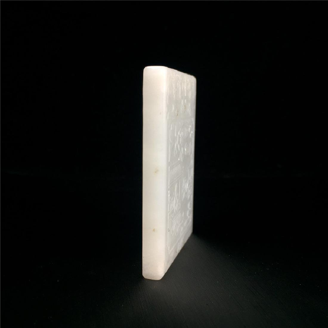 Chinese Qing Dynasty Hetian White Jade Pendant - 3