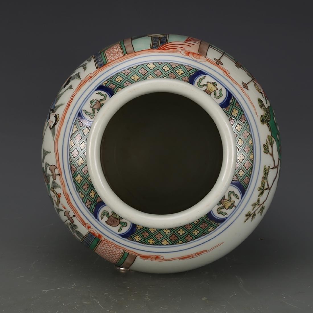 Chinese Wucai Porcelain Ginger Jar - 4