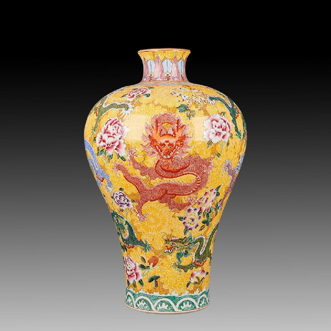 large Chinese Famille Rose Porcelain Vases