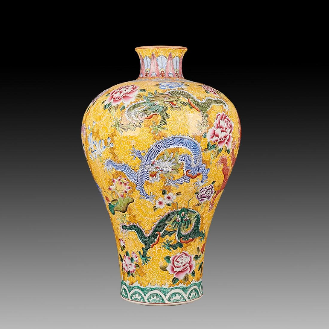 large Chinese Famille Rose Porcelain Vases - 4