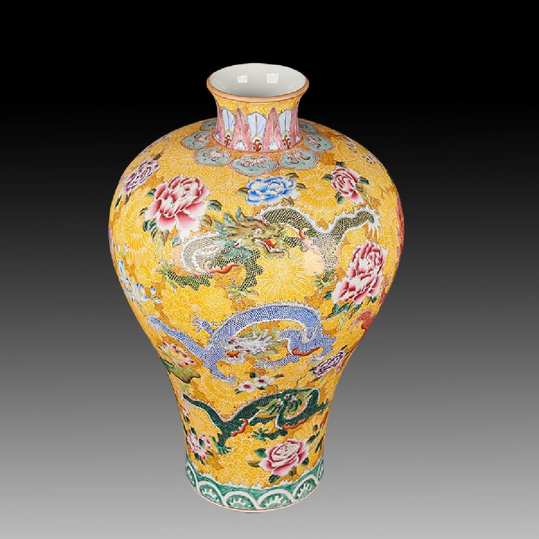 large Chinese Famille Rose Porcelain Vases - 5