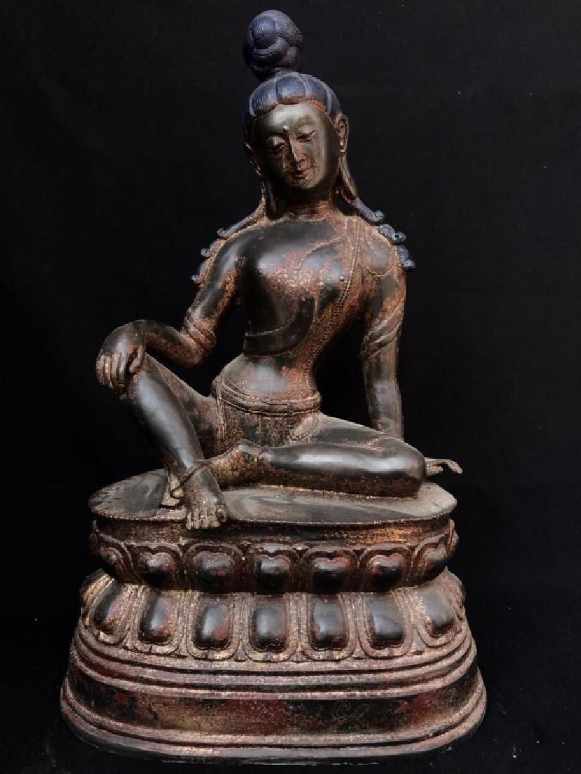 RED COPPER GOLD GILT TIBETAN BUDDHIST