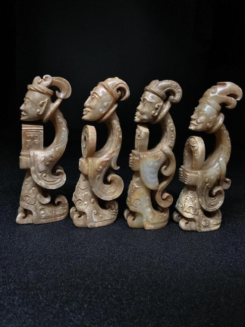 HETIAN JADE WHITE CHICKEN FIGURE (FOUR) - 6
