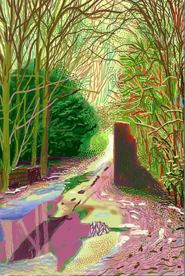 OIL PAINTING SPRING, THE STYLE OF DAVID HOCKNEY