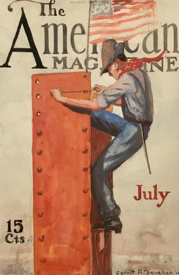 GERRIT BENEKER (1882-1934), Supremacy, The American Magazine cover study, July 1910