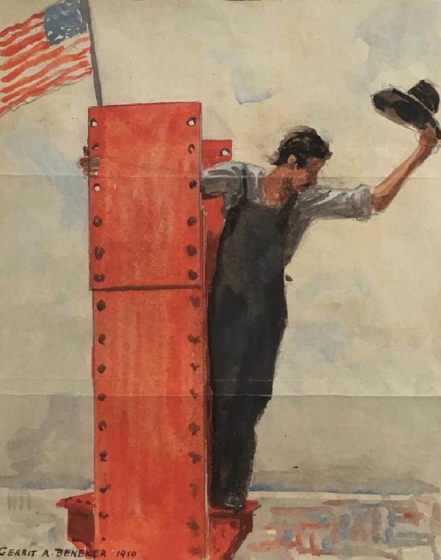 GERRIT BENEKER (1882-1934), Supremacy, The American Magazine related cover study, July 1910