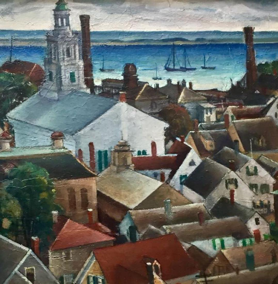 NANCY FERGUSON (1872-1967), Provincetown, Oil on panel