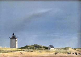 ANNE PACKARD (1933- ), Long Point, Oil on panel