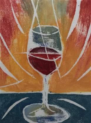 WILLIAM EVAUL 1949 Glass of Wine Whiteline