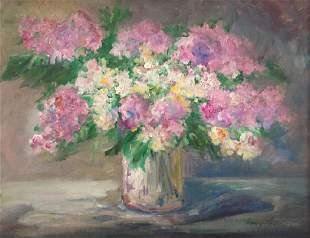 HENRY HENSCHE 18991992 Floral Still Life Oil on
