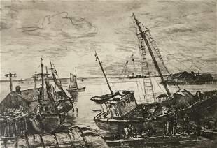ALBERT EDEL 18941970 Provincetown Harbor