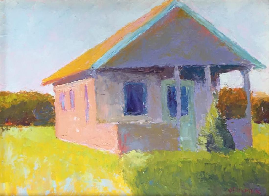 JUDITH FULMER (1962 - ), Cape Cottage, Oil on masonite