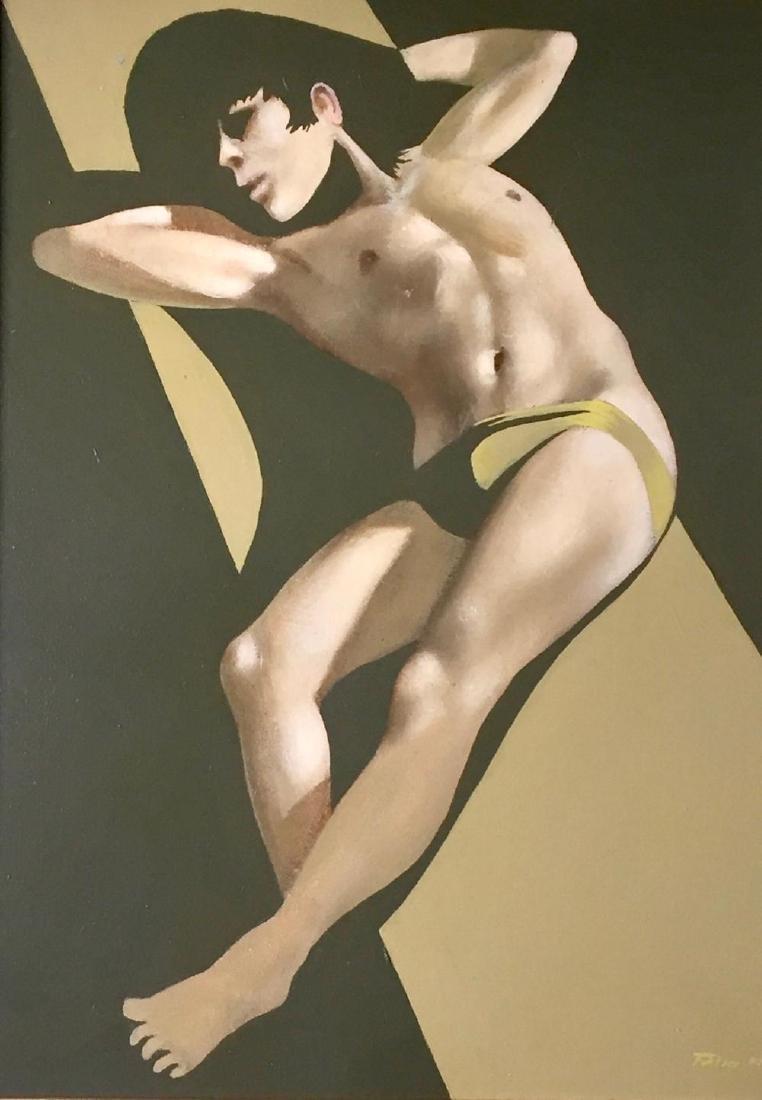 ROBERT BLISS (1925-1981), Sunbathing, Oil on masonite