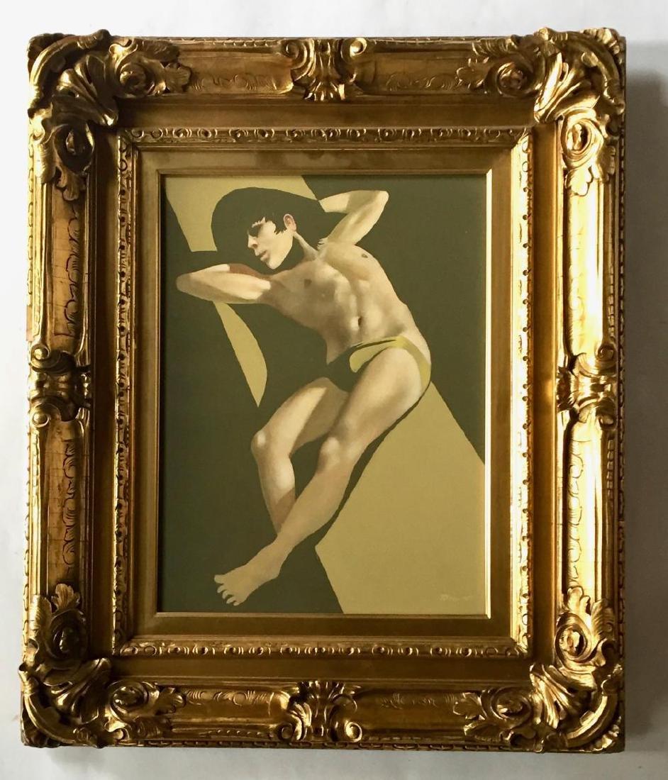ROBERT BLISS (1925-1981), Sunbathing, Oil on masonite - 3