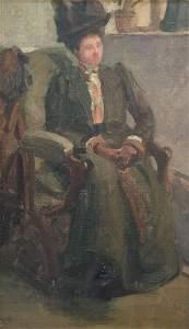 EDITH LAKE WILKINSON (1868-1957), Seated Woman, Oil on