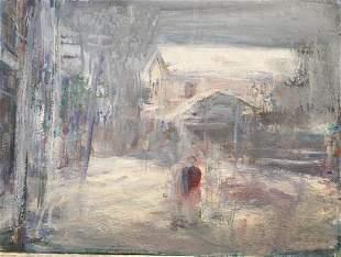 WILLIAM MAYNARD 19212016 Winter Provincetown Oil