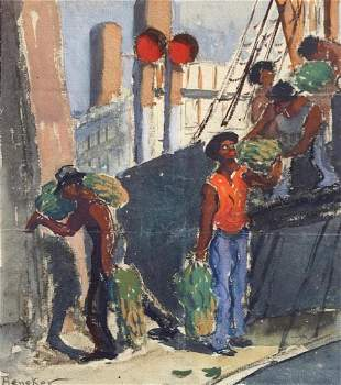 GERRIT BENEKER 18821934 Unloading the Ship