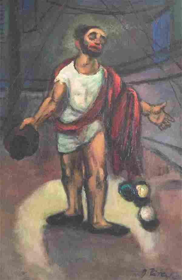 GEORGE RATKAI (1907-1999), Behold the Man, Oil on