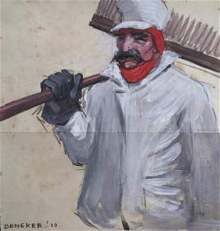 GERRIT BENEKER 18821934 Railroad Sweeper Ambition