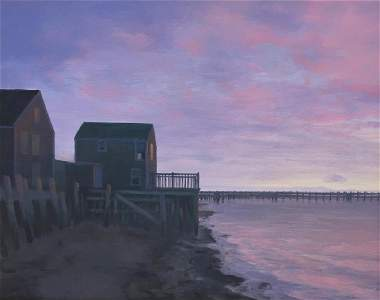 JOHN DOWD (1960- ), Lavender Dawn, Oil on canvas