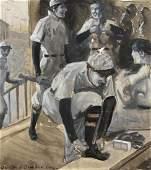GERRIT BENEKER (1882-1934), Locker Room, Ivory Soap