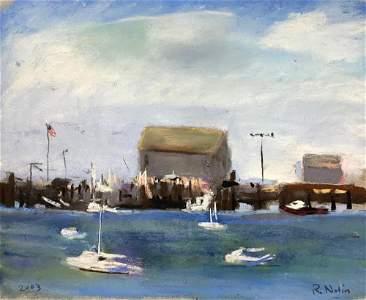 RAY NOLIN (1959-2015) MacMillan Wharf, 2003, Pastel on