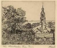 ALBERT EDEL (1894-1970) The Christopher Wren Tower,