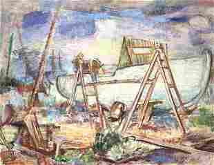 DOROTHY LOEB 18871971 On the Cradle Provincetown