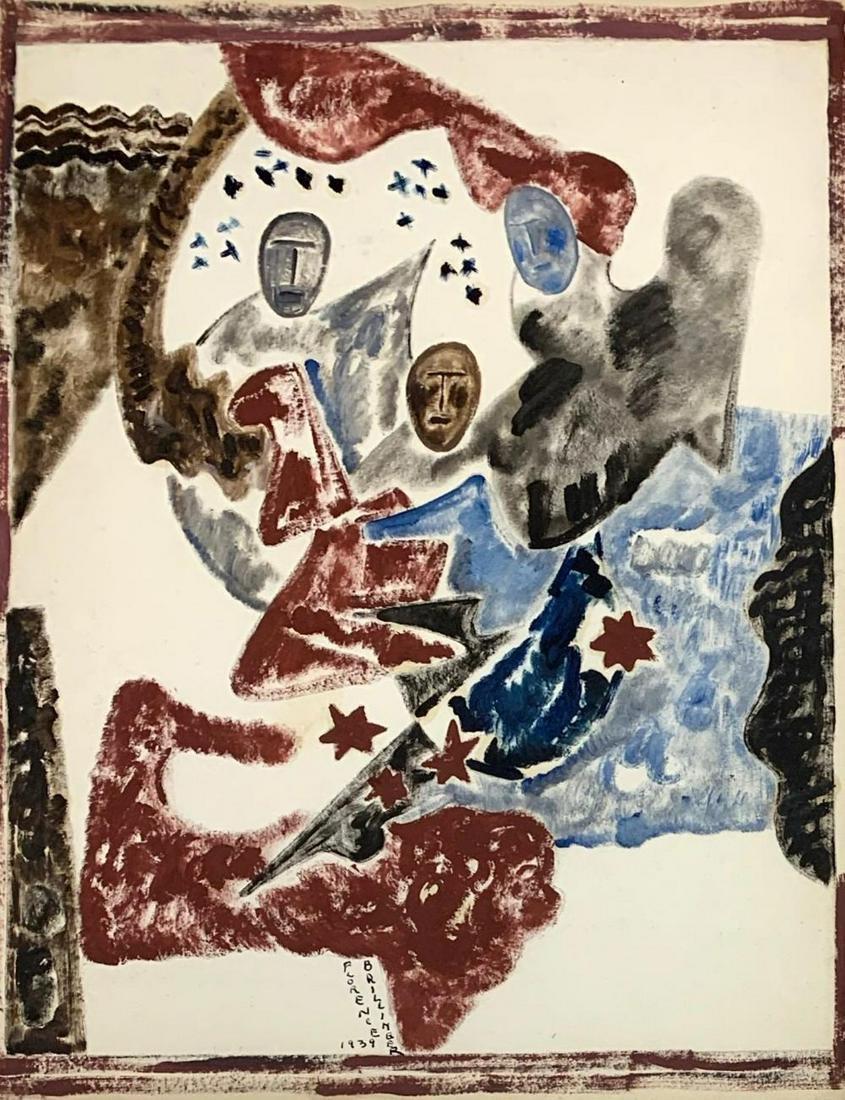 FLORENCE BRILLINGER (1891-1984) Stars, 1939, Watercolor
