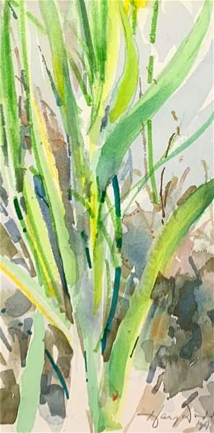 HARVEY DODD 19332011 Beach Grass 1994 Watercolor