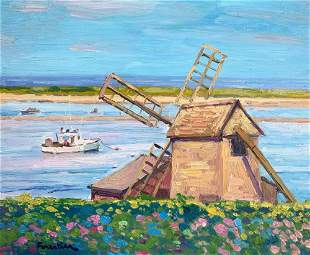 MARK FORESTIER 2021st c Cape Cod Windmill Oil on