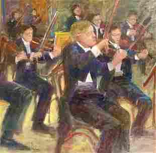 MORGAN KUHN 2021st c Violins in Motion Oil on