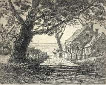 ALBERT EDEL (1894-1970) The Way to the Sea, Etching