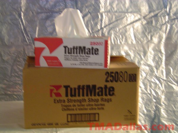 6: LOT OF 4 CASES OF TUFFMATE EXTRA STRENGTH SHOP RAGS