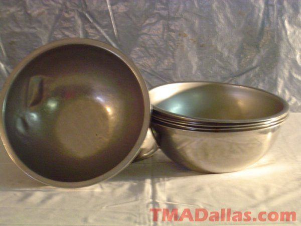 "12: LOT OF 12"" S/S MIXING BOWLS"