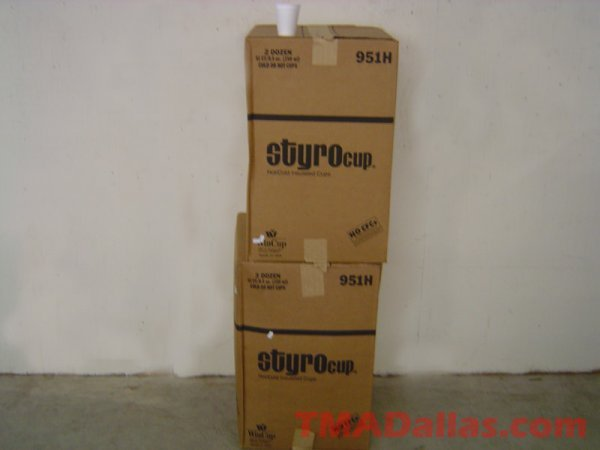 23: 2 CASES OF STYROFOAM CUPS (NEW)