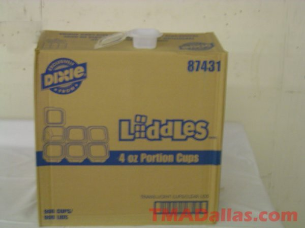 58: 1 BOX OF DIXIE 4 OZ CLEAR PORTION CUPS (NEW) (900 C