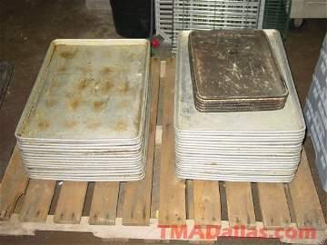 224: PALLET OF ALUM FULL SIZE SHEET PANS