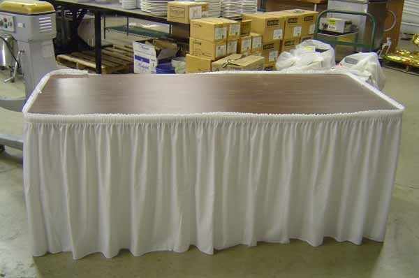 322: 2 TABLE SKIRTS (WHITE)