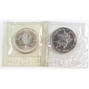 1988 1989 1oz Fine Silver Maples Sealed in Original