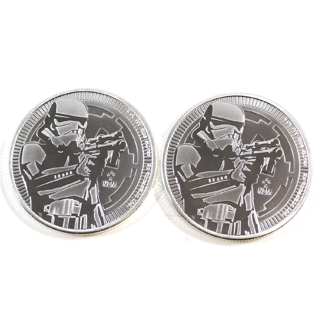 Pair of 2018 Niue $2 Stormtrooper 1oz. .999 Silver