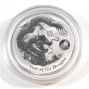 2012 Australia 1 Year of the Dragon with Lion Privy