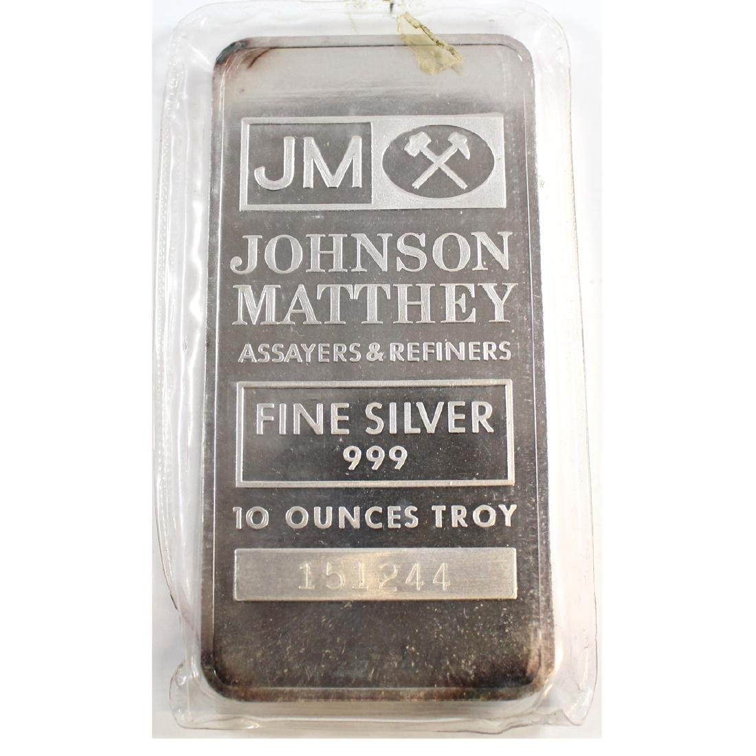 Vintage 10oz Johnson Matthey United States Fine Silver