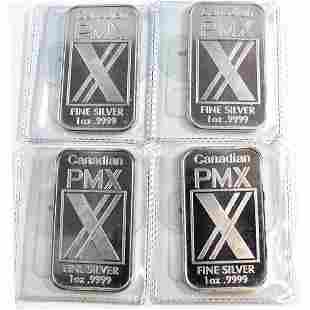 Canadian PMX 1oz Fine Silver Bars Tax Exempt Bars