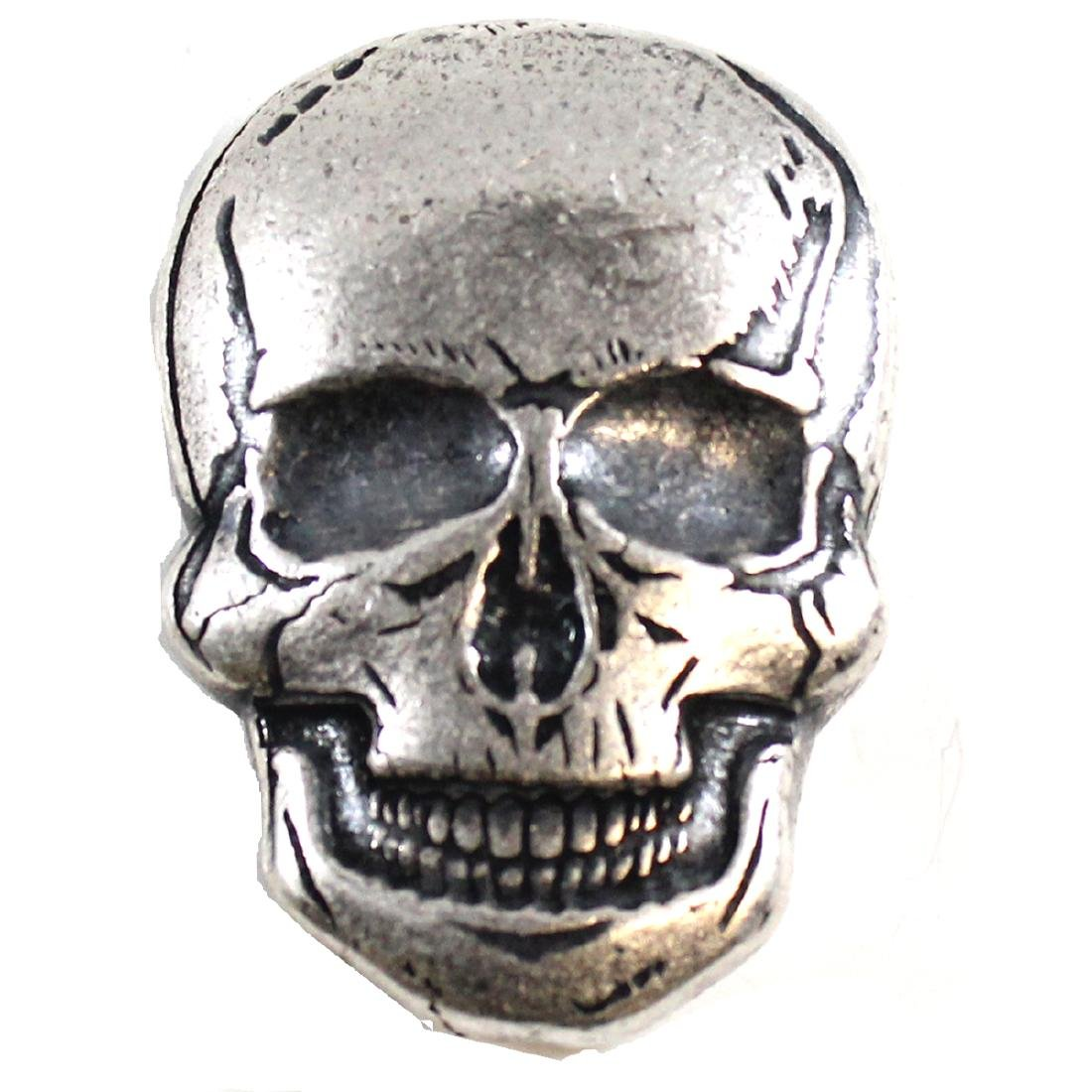 SKULL Monarch Precious Metals 2oz Fine Silver (TAX