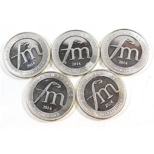 First Majestic 1oz Mayan Fine Silver Rounds Tax