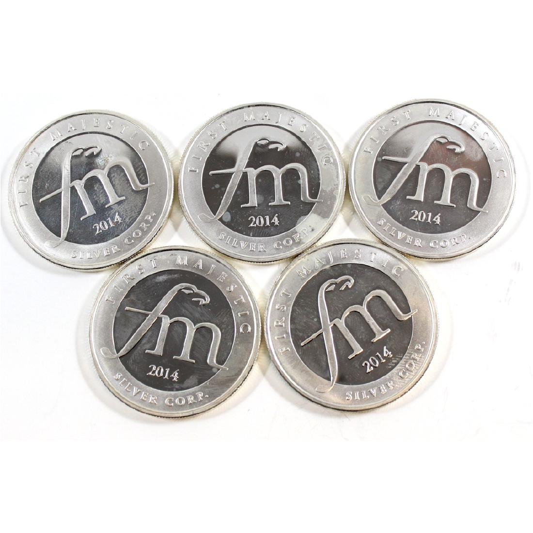 First Majestic 1oz Mayan Fine Silver Rounds (Tax