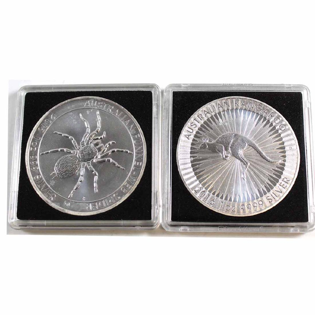 Pair of Australia 1oz. .999 Fine Silver Coins - 2015