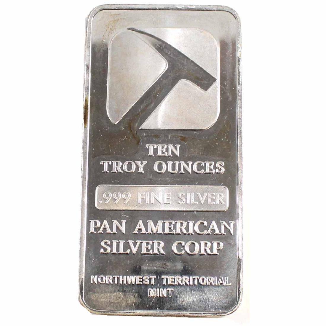 Pan American Silver Corp NWT 10oz Fine Silver Bar (TAX